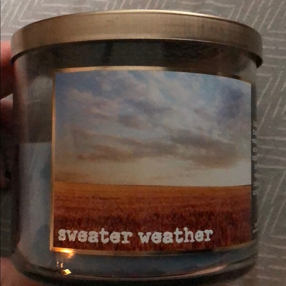 Other Bath Body Works Sweater Weather Candle Poshmark